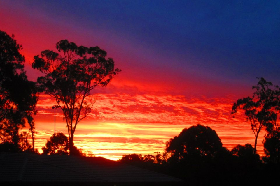 Sunset in the southern hemisphere